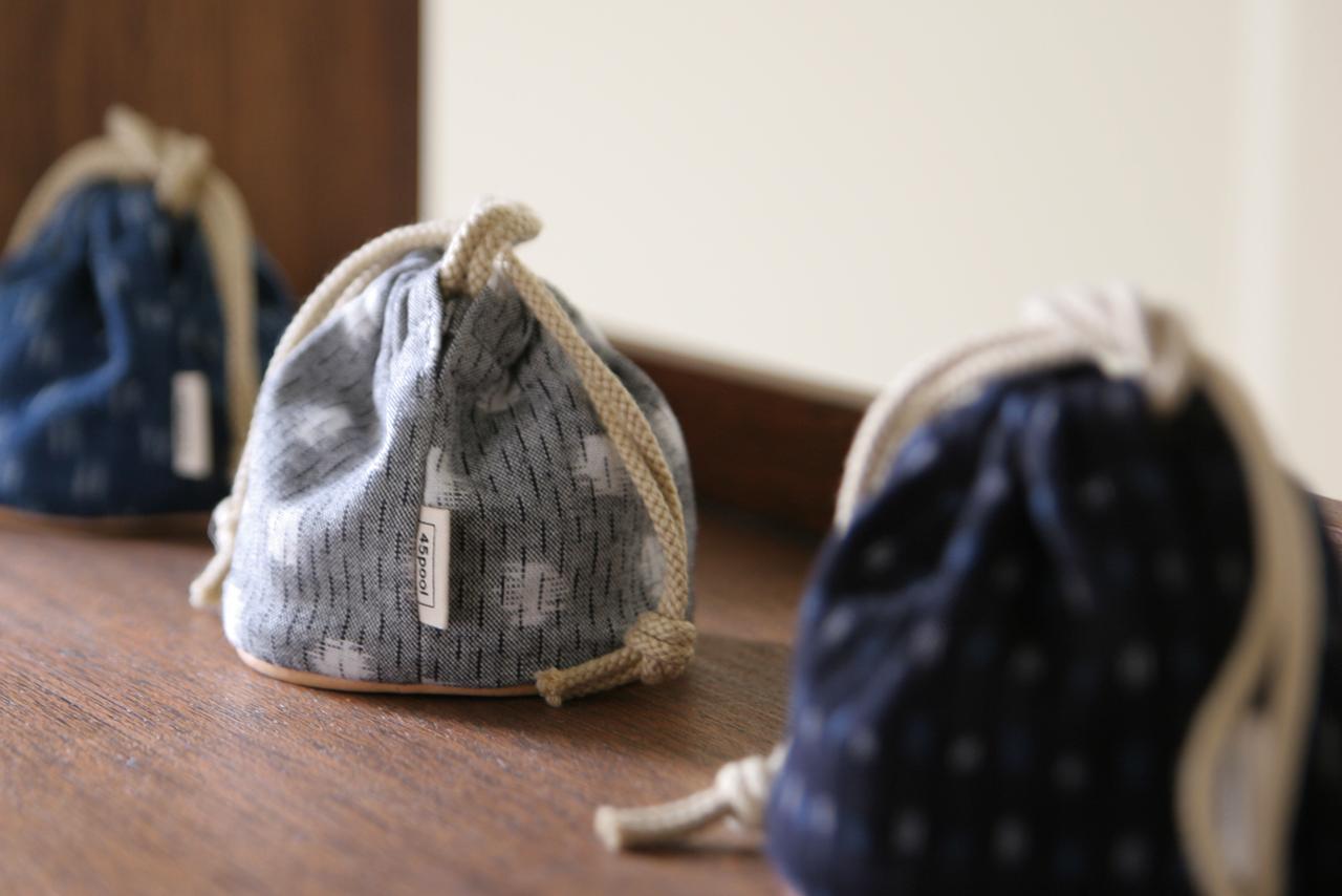 久留米絣の巾着袋